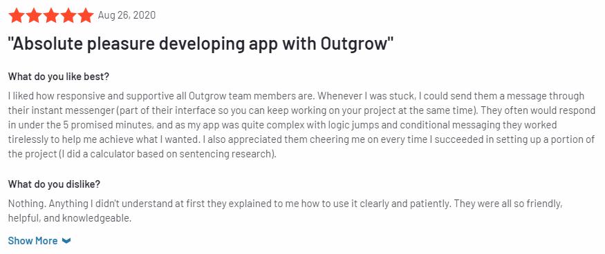 Outgrow g2 review