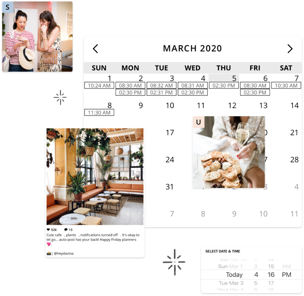 instagram Scheduling Tool example