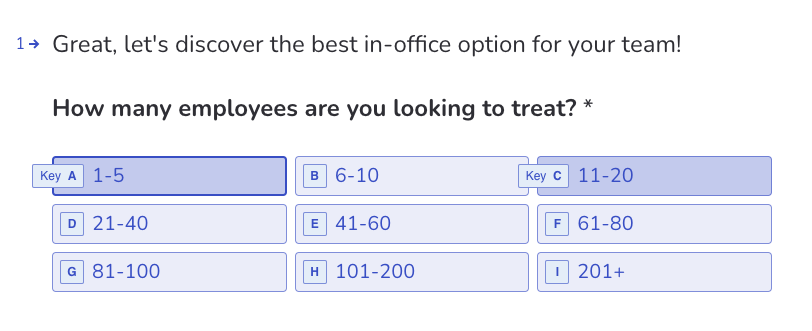 personalized form example