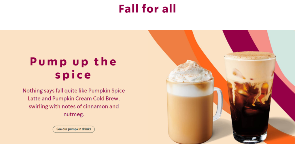 starbucks coffee ad example
