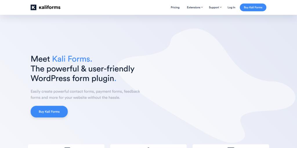 Kali Forms powerful user friendly WordPress form plugin