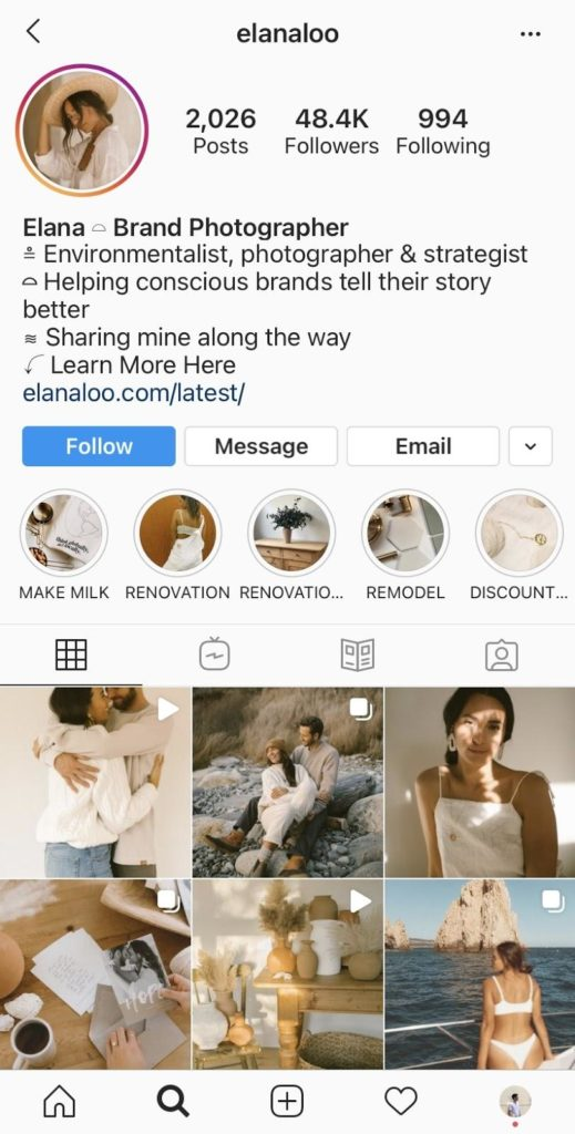 optimize instagram for search example
