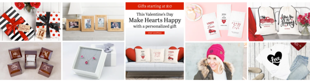 AGiftPersonalized Valentines Day banner