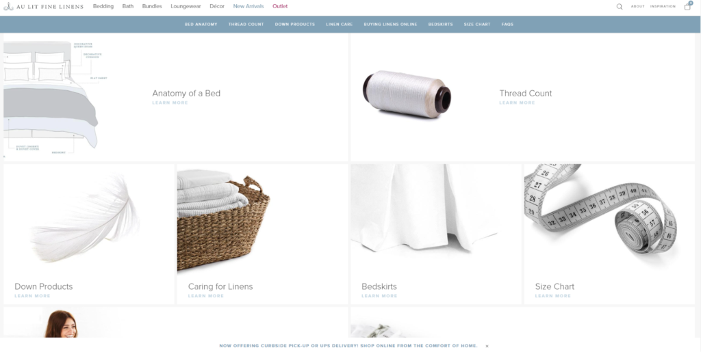 Au Lit Fine Linens products