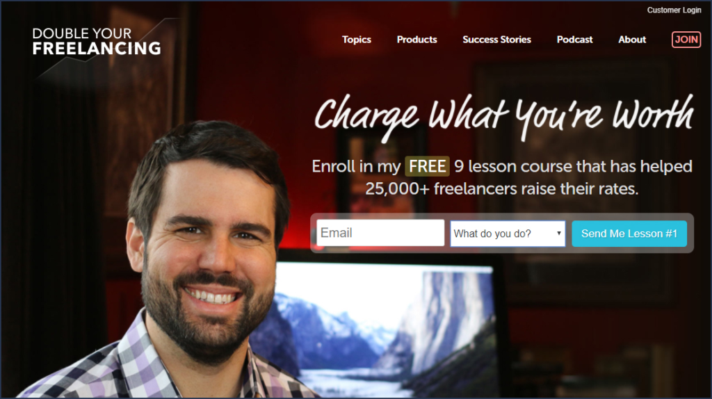 Double Your Freelancing homepage