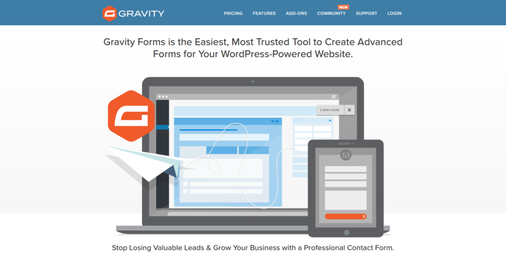 Gravity Forms WordPress form and survey plugin
