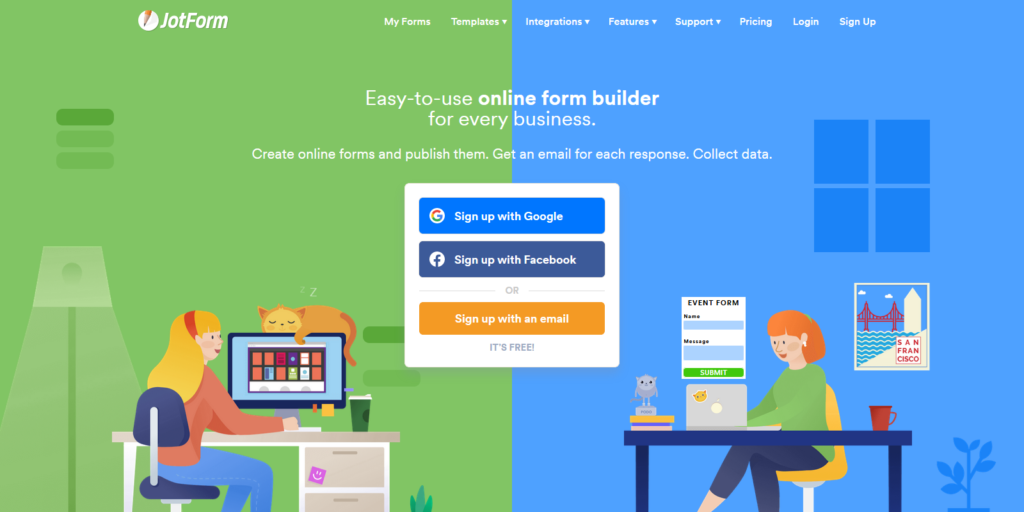 JotForm Typeform alternative