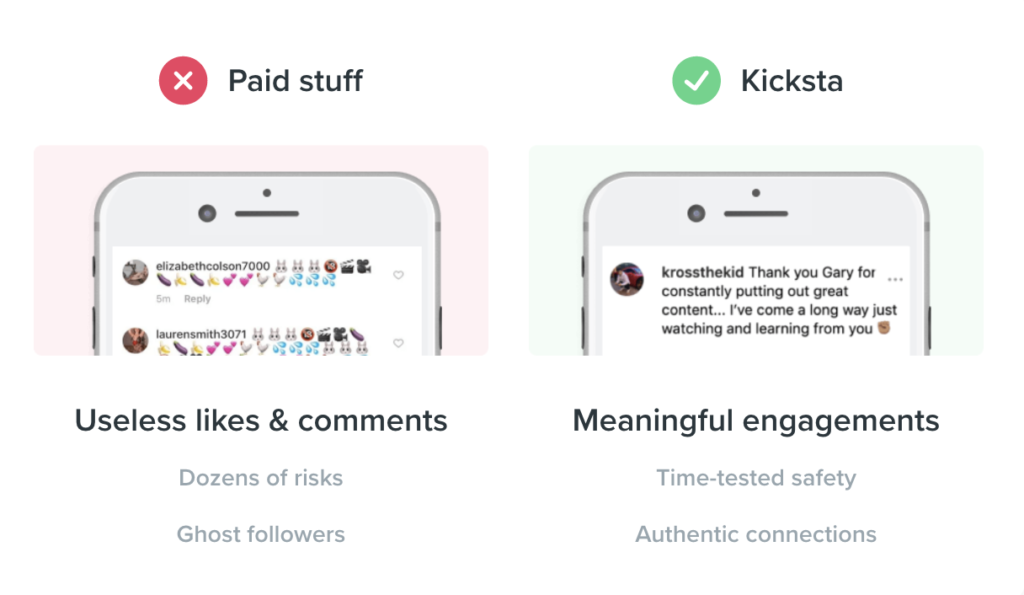 Kicksta Get Real Instagram Followers