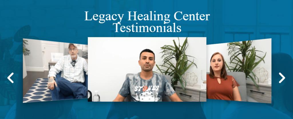 Legacy Healing customer testimonials and reviews