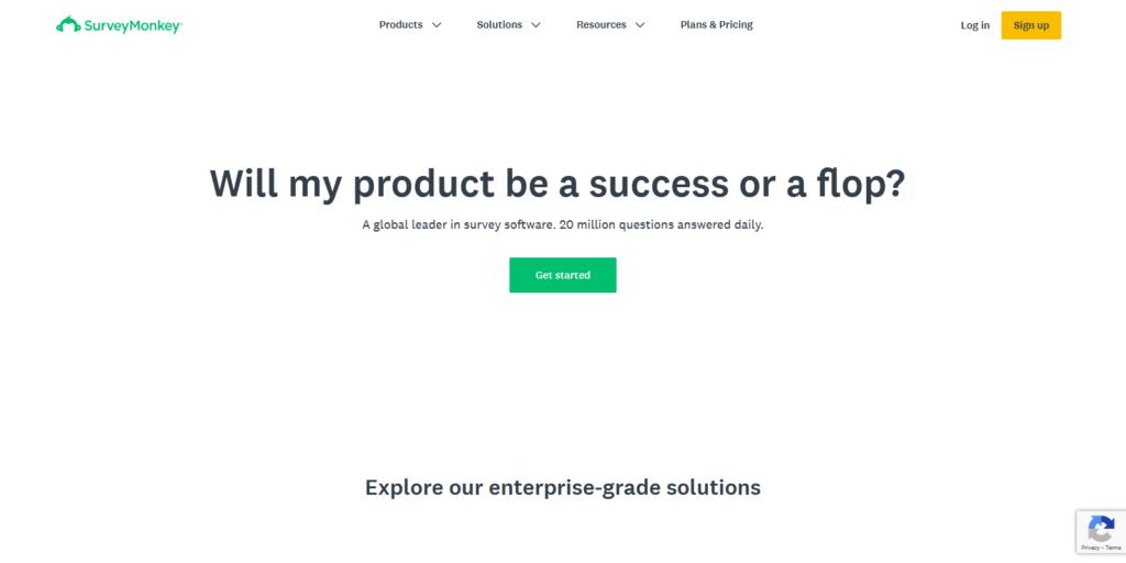 SurveyMonkey form tool