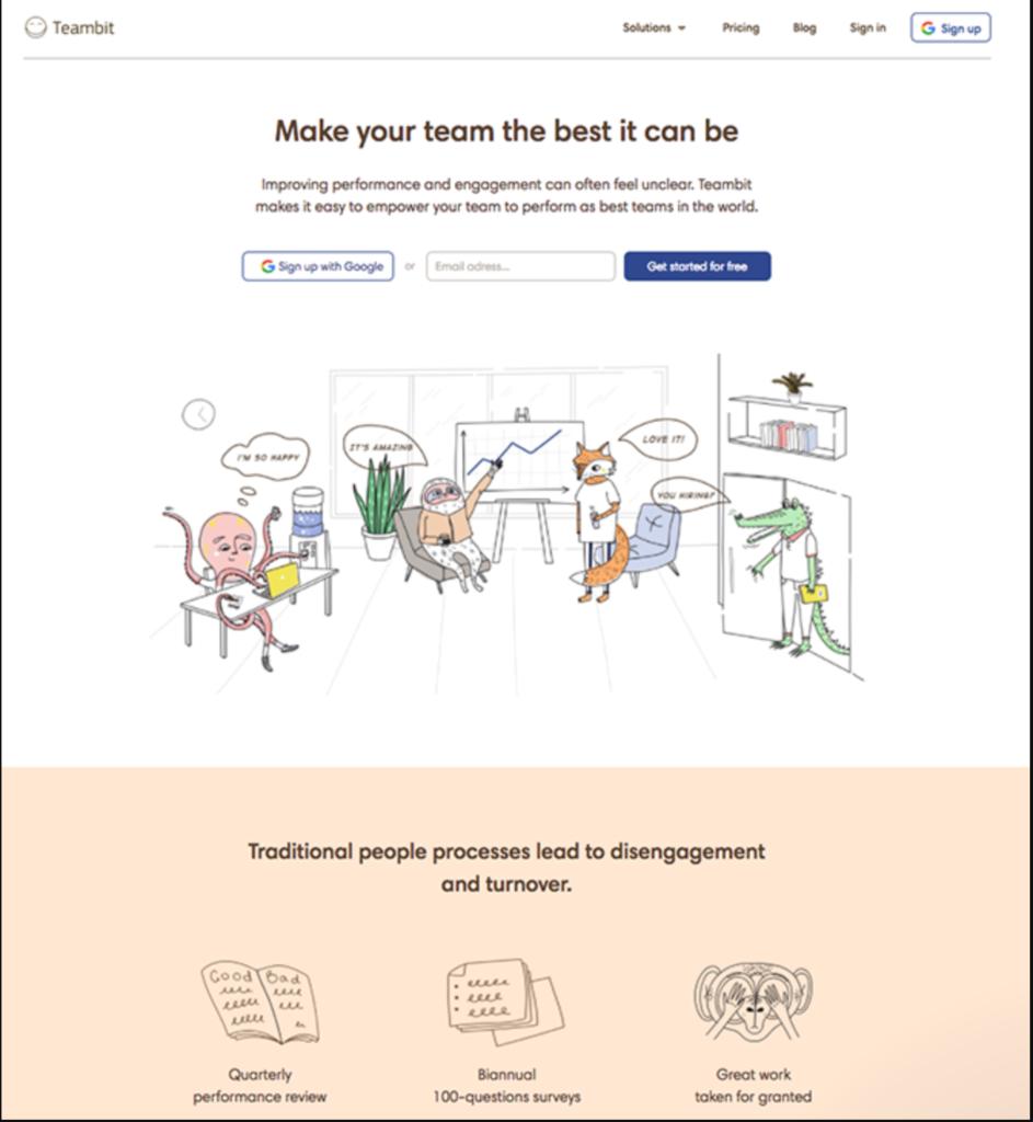 Teambit landing page