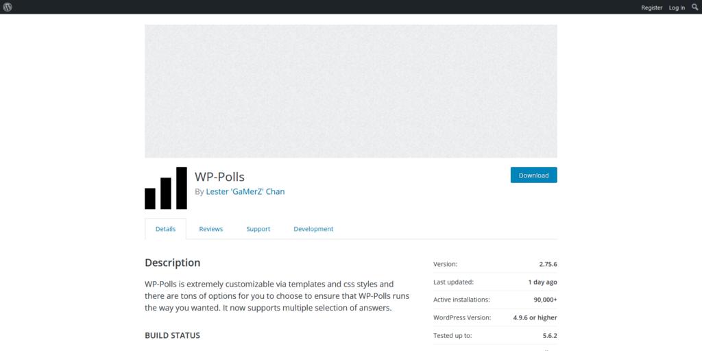 WP Polls wordpress polls and surveys plugin