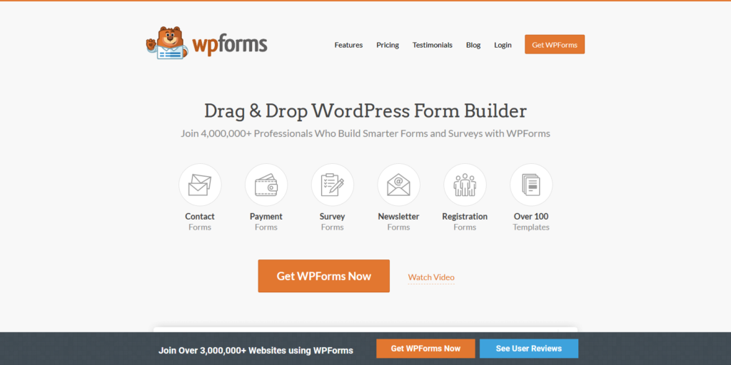 WPForms survey tool