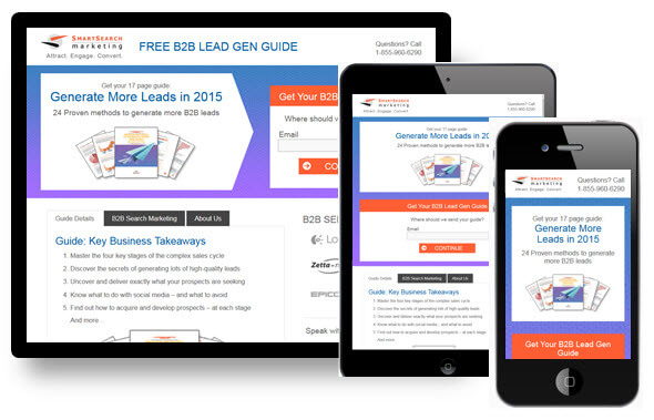 different landing page for every device