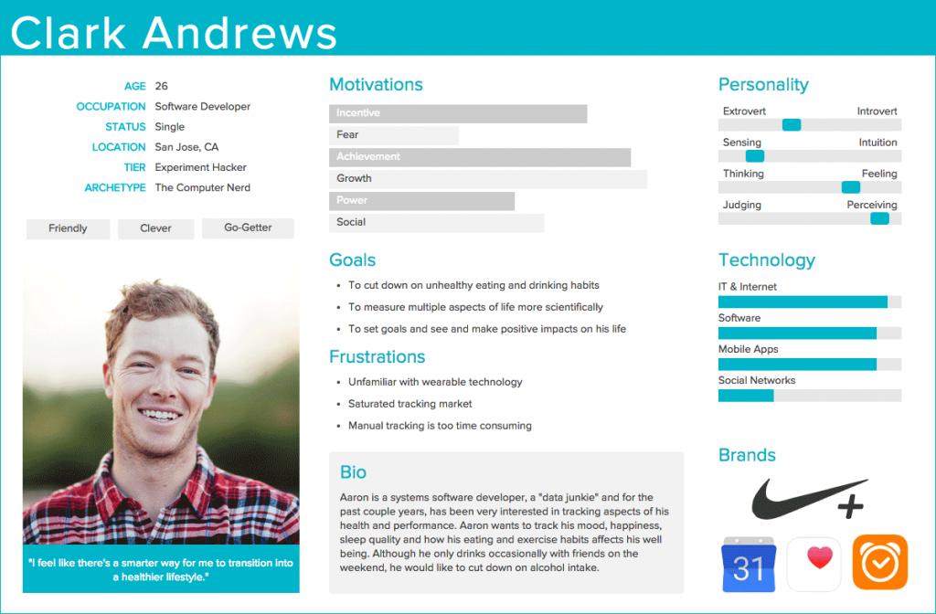 user persona profile example