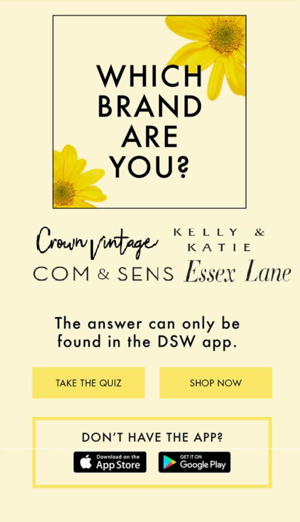 DSW personality quiz
