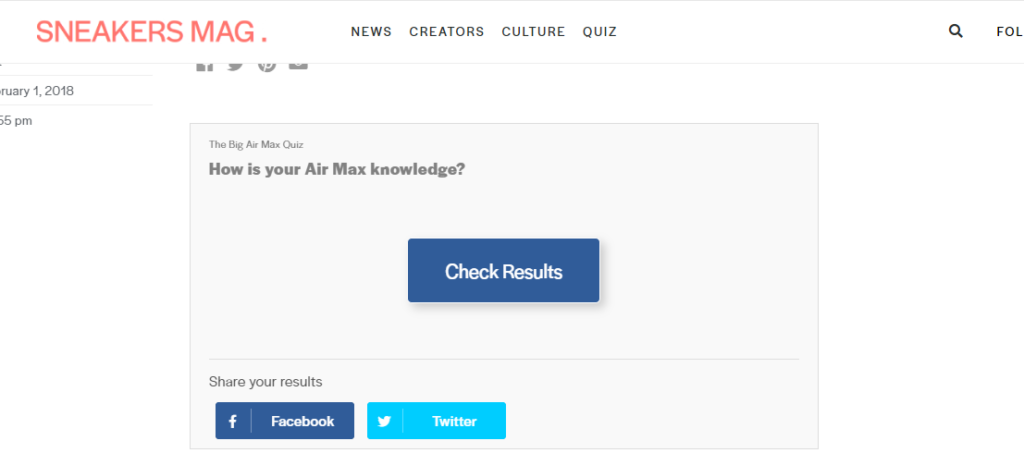 Sneakers Mag Big Air Max Quiz results