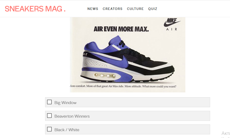 Sneakers Mag Big Air Max Quiz
