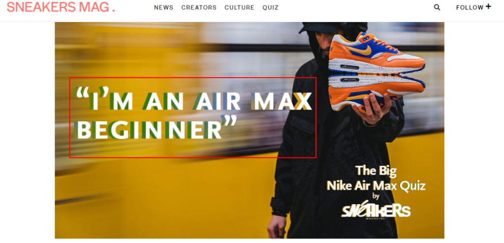 Sneakers Mag Knowledge testing quiz