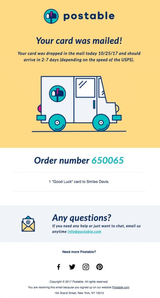 ecommerce transactional email gif example