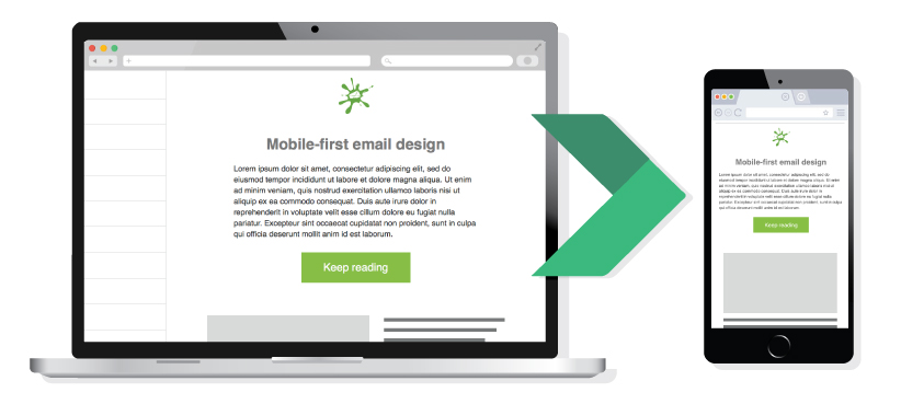 mobile responsive email newsletter example