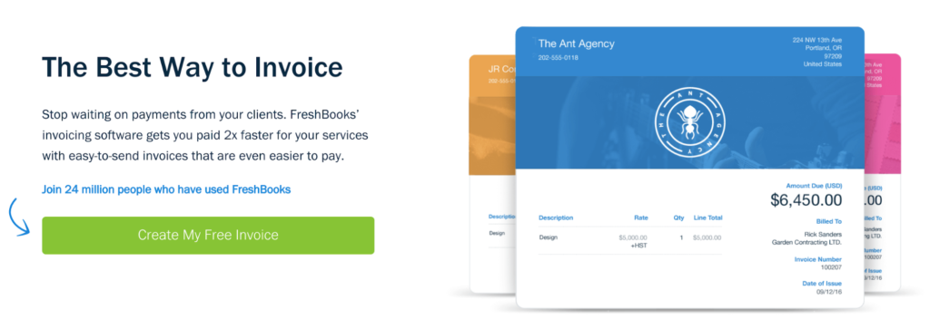 FreshBooks landing page uses the power of FOMO