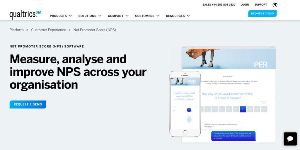 Qualtrics survey tool net promoter score nps