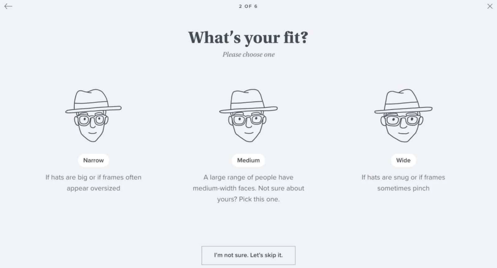 Warby Parker personalization example