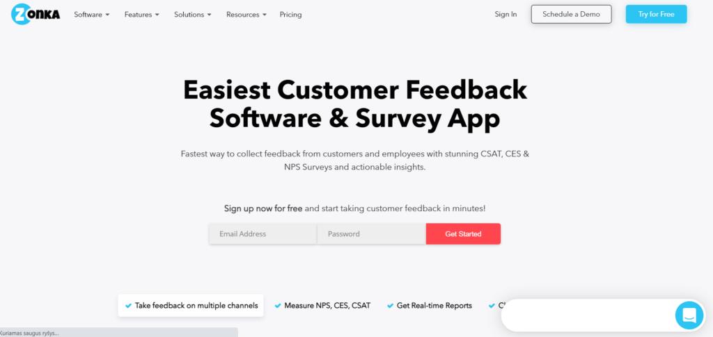 Zonka Feedback survey tool