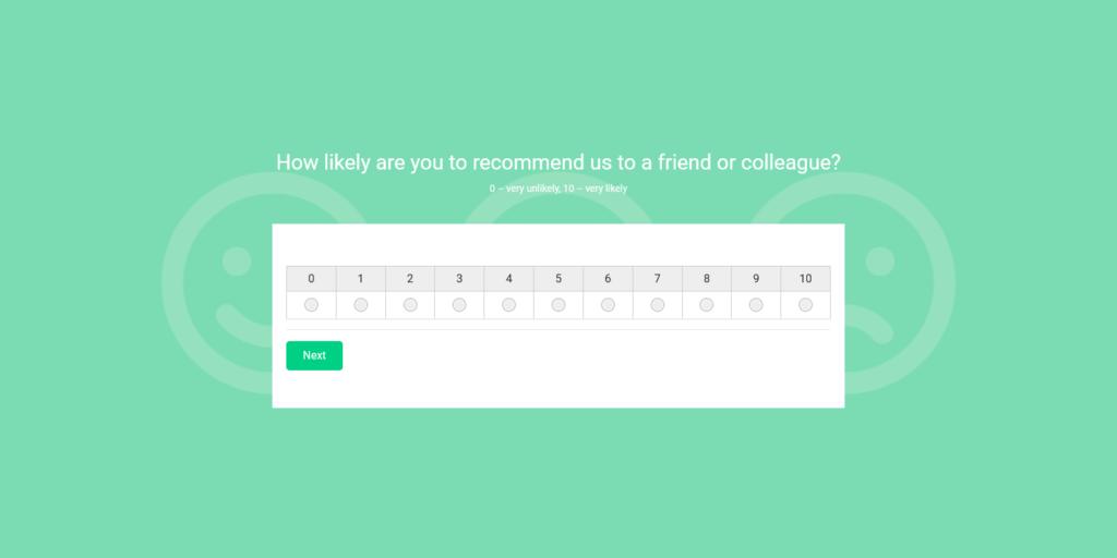 woorise net promoter score nps survey example