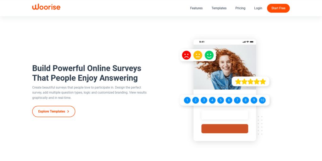 woorise online surveys and net promoter score nps surveys