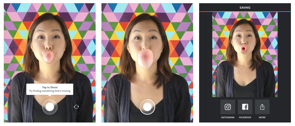 Boomerang from Instagram Create captivating mini videos that loop back and forth