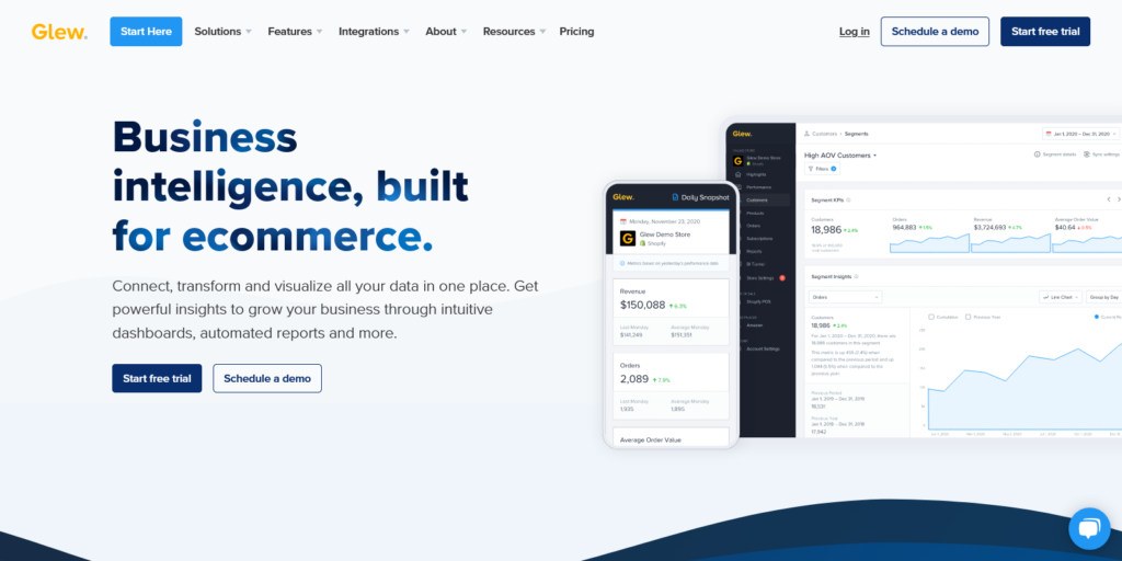Glew Business Intelligence and eCommerce Analytics Software
