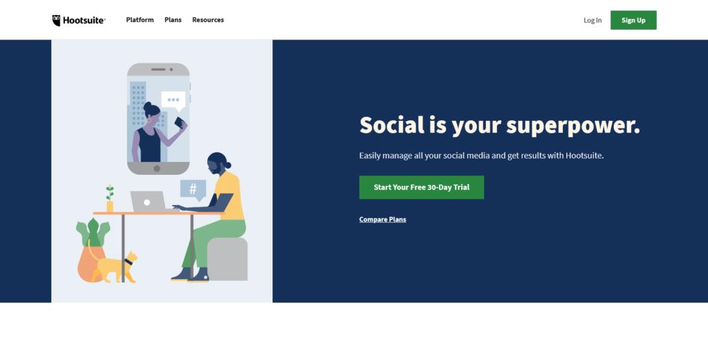 Hootsuite Social Media Marketing Management Dashboard