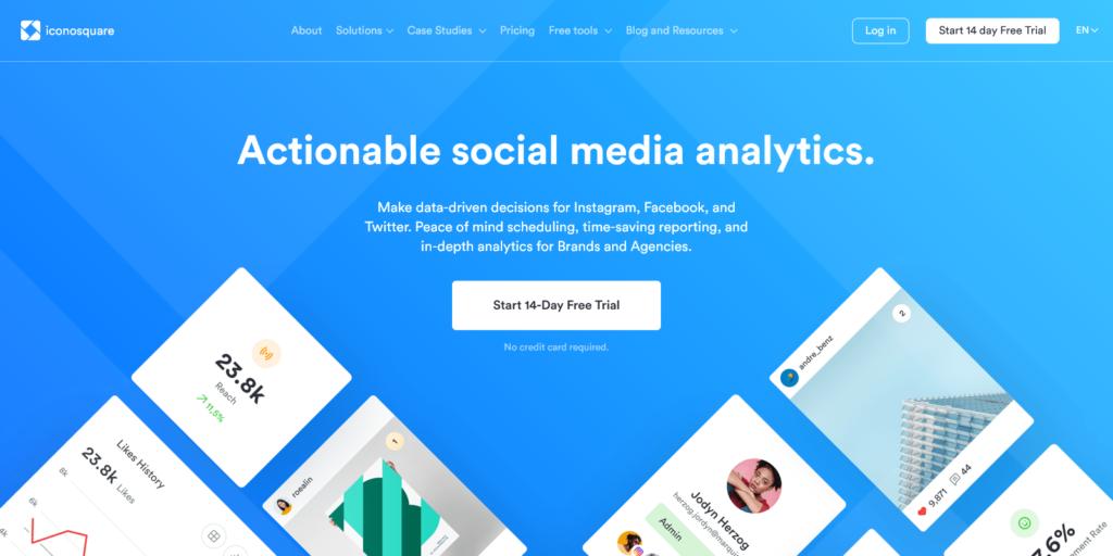 Iconosquare Instagram Facebook Twitter Analytics and Management Platform
