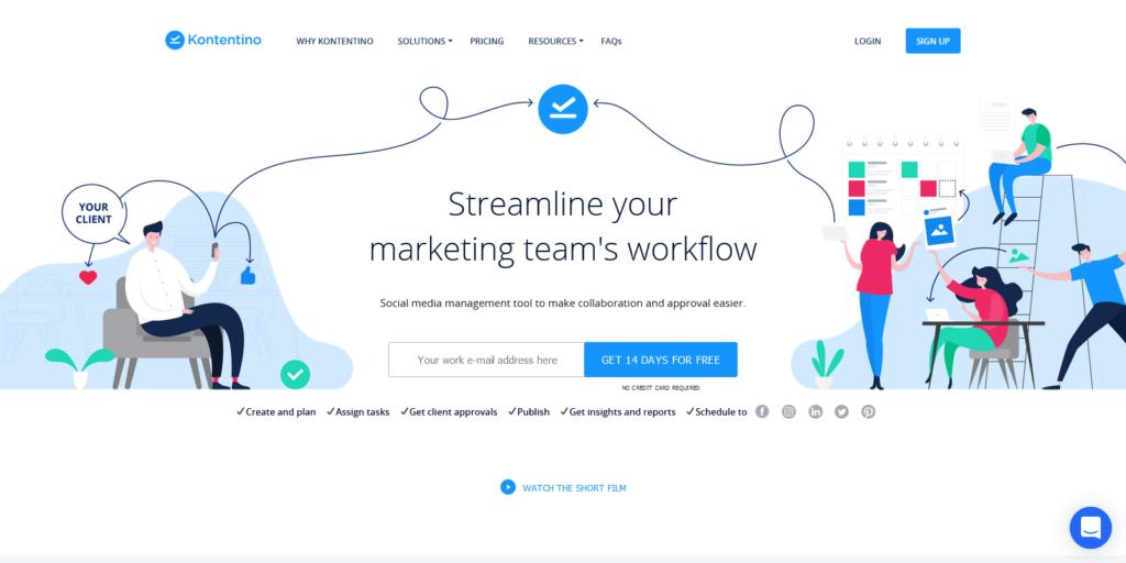 Kontentino Streamline your social media workflow