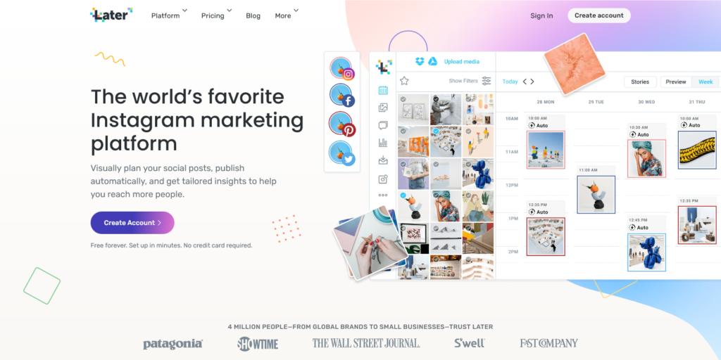 Later Worlds Favorite Instagram Marketing Platform