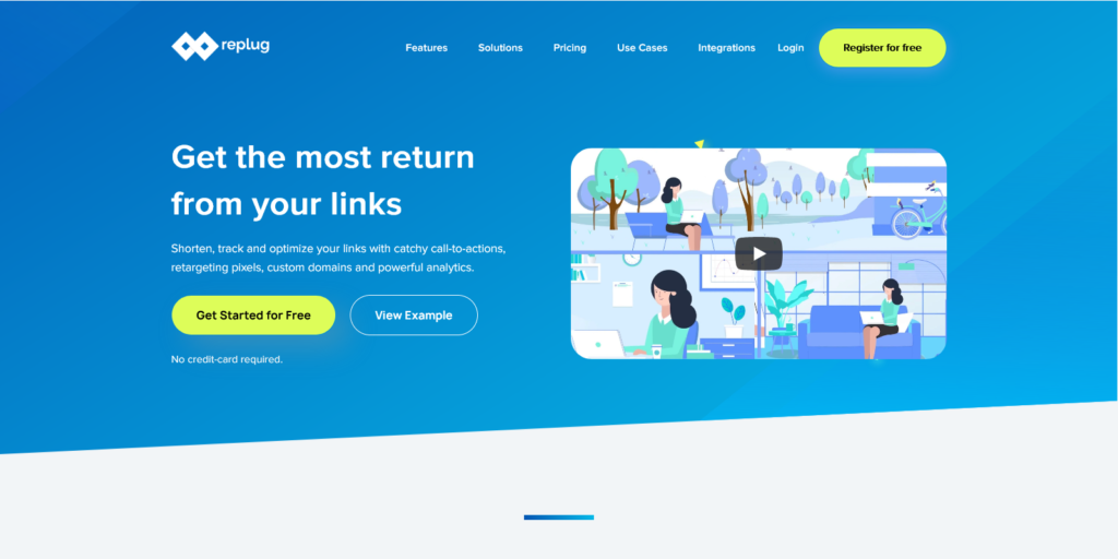 Replug Best URL Shortener Get extra traffic and leads from your shared links