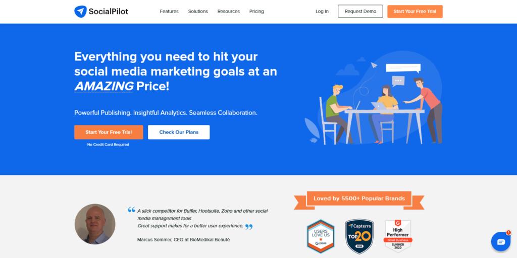 SocialPilot Social Media Scheduling Marketing and Analytics Tool