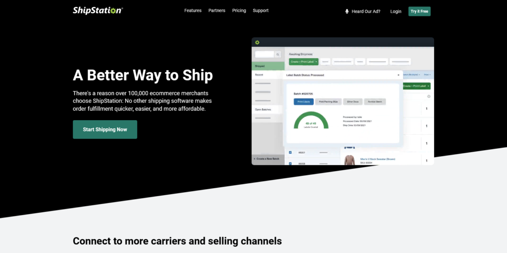 ShipStation Shipping Software for Ecommerce Fulfillment