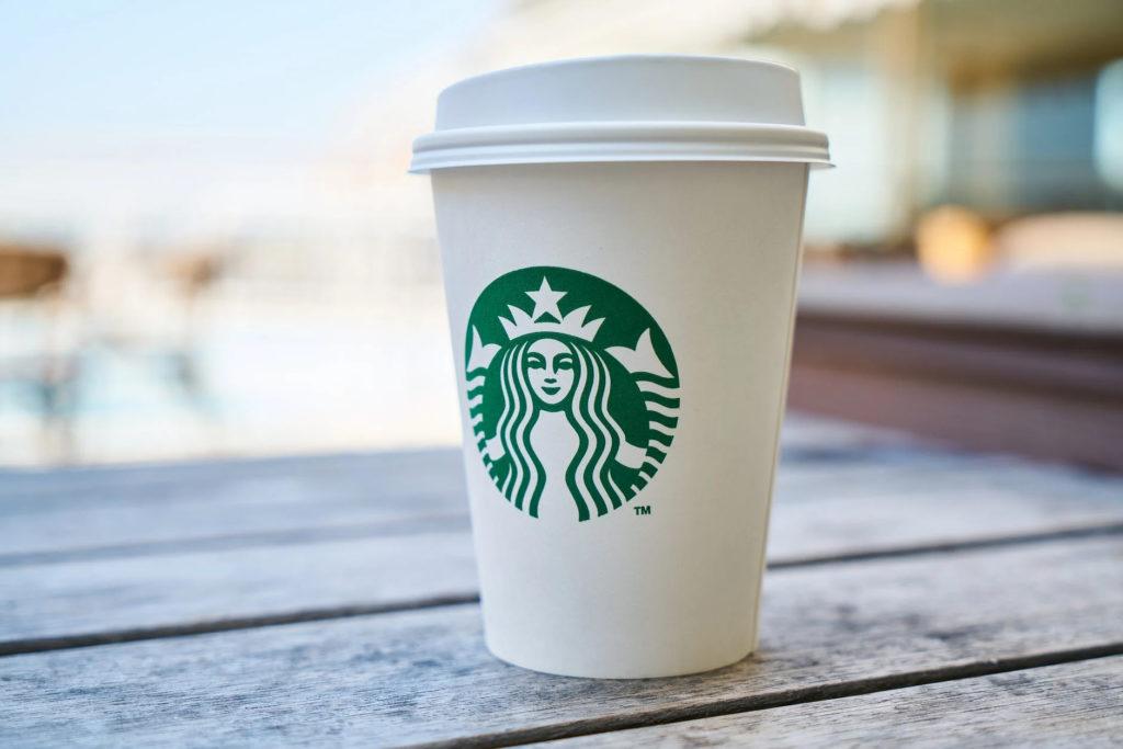 starbucks white coffee cup