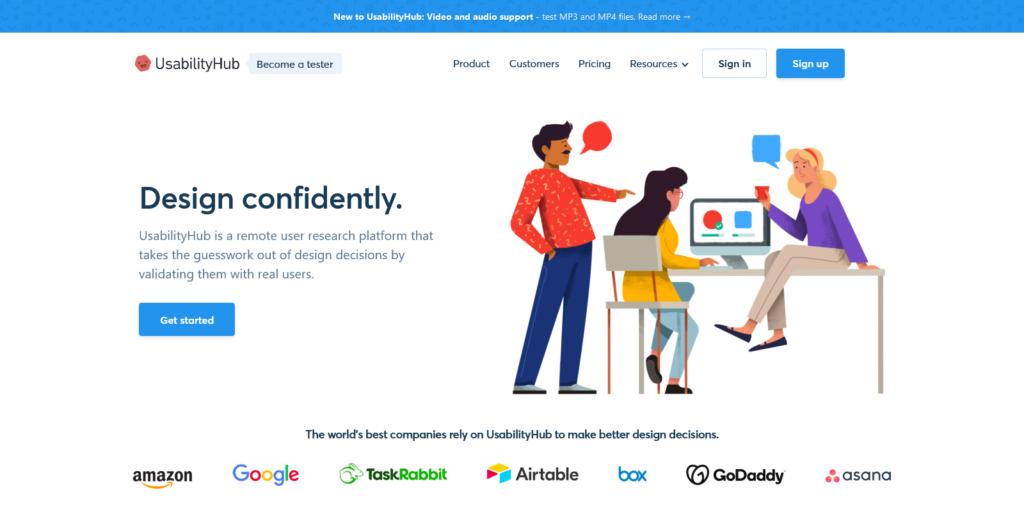 UsabilityHub User Testing and Usability Research Platform