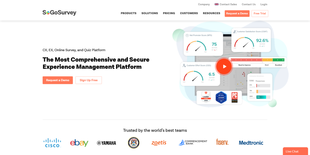 Enterprise Online Survey Software Tools for Businesses SoGoSurvey
