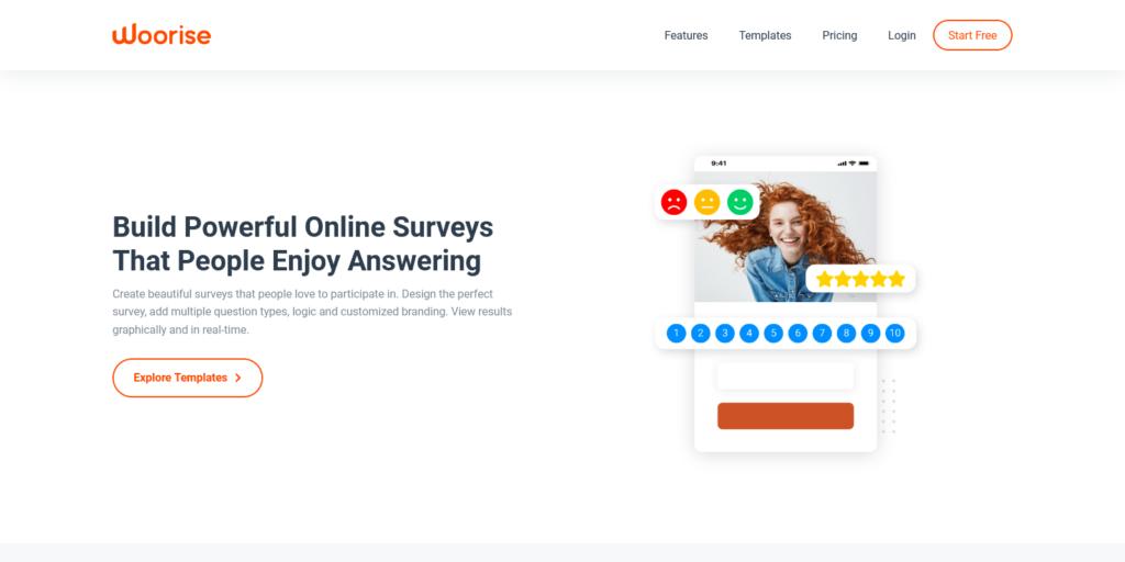 Survey Maker – Create Free Online Surveys – Woorise