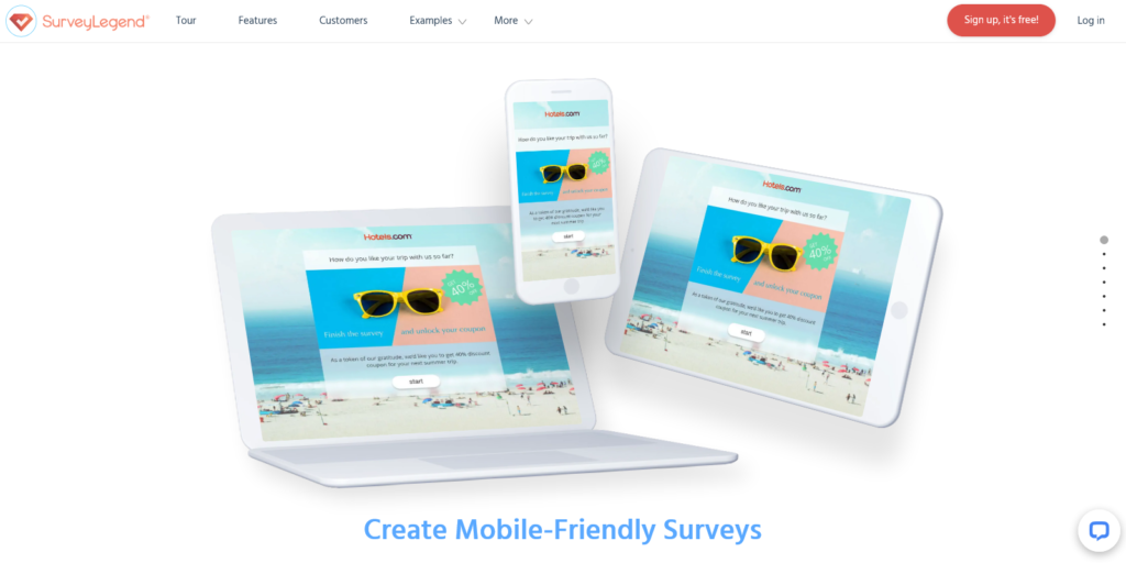 SurveyLegend The best mobile ready free online survey app