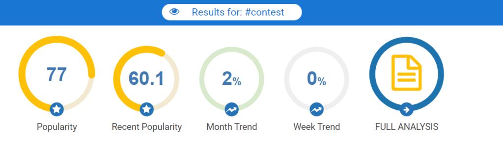 Hashtagify contest hashtag