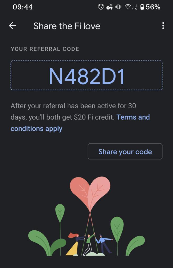 Referral Rewards example