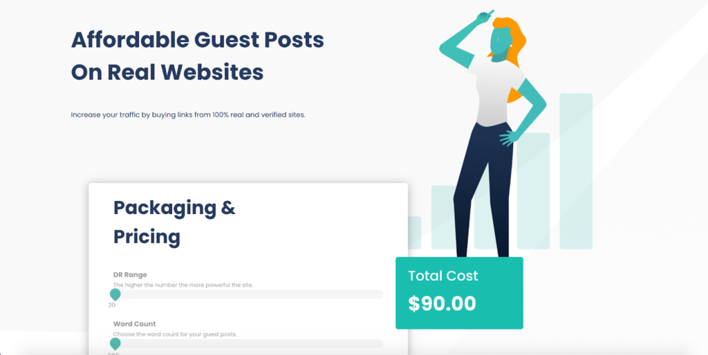 example of a well designed social media landing page