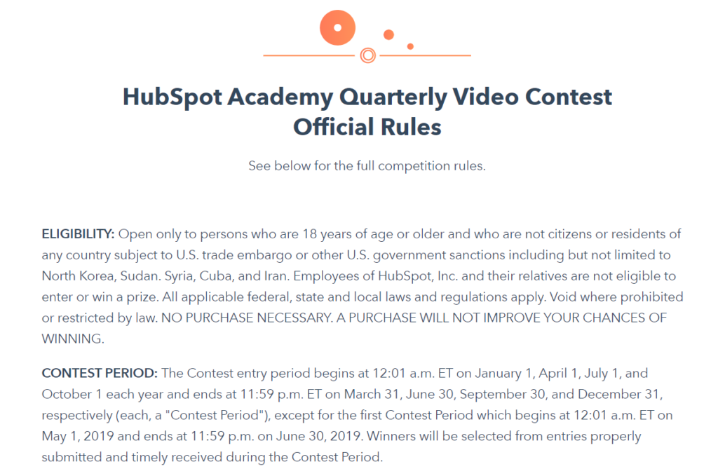 video contest official rules