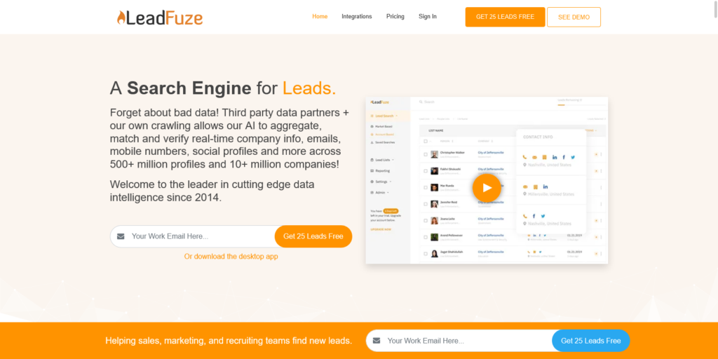 1 Prospecting Tool for Business Leads Candidate Sourcing